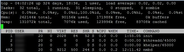 How to check memory usage on Linux with top command