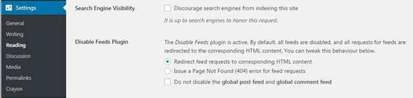 How to disable RSS feeds for WordPress using a plugin